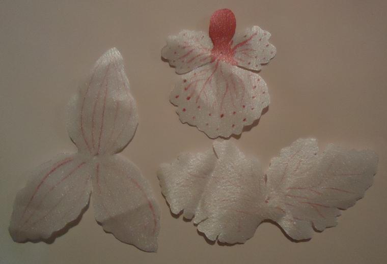 Орхидеи из ткани своими руками